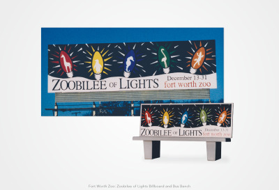 Fort Worth Zoo: Zoobilee of Lights Billboard and Bus Bench